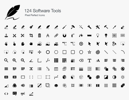 hand tool: 124 Software Tools Pixel Perfect Icons