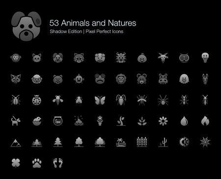 Animals and Natures Pixel Perfect Icons Shadow Edition