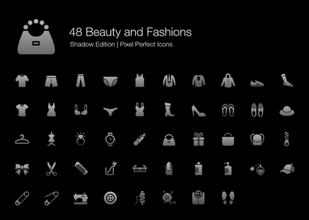 long and short scales: Beauty and Fashions Pixel Perfect Icons Shadow Edition