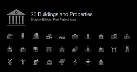 gates: Buildings and Properties Pixel Perfect Icons Shadow Edition