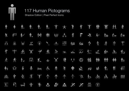Human Pictogram Pixel Perfect Icônes Ombre Édition