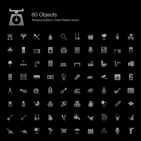 pixel perfect: Objects Pixel Perfect Icons Shadow Edition