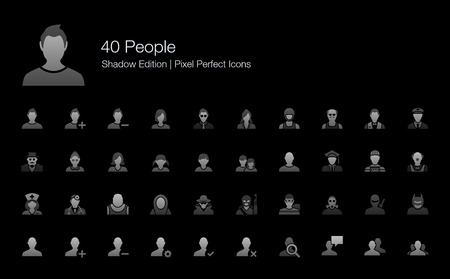People Avatar Character Pixel Perfect Icons Shadow Edition