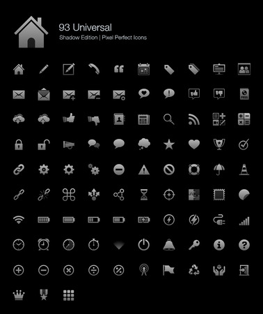 Universal Pixel Perfect Icons Shadow Edition