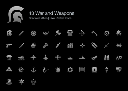 War and Weapons Pixel Perfect Icons Shadow Edition Çizim