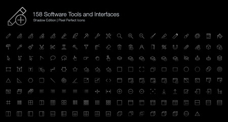 Software Tools and Interfaces Pixel Perfect Icons (line style) Shadow Edition Çizim