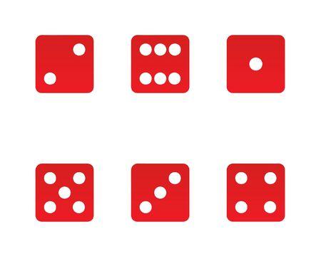 Illustration vector dices set
