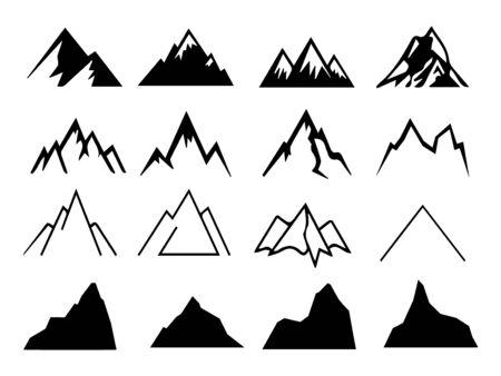 Set of mount sign design. vector illustration.