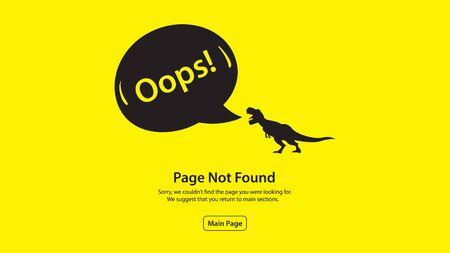 Error 404 page not found. Vector illustration template design Vektorové ilustrace