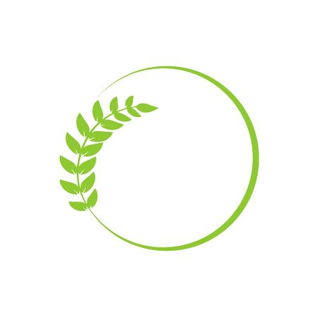 Leaf in the circle for brand design. Vector illustration Ilustração