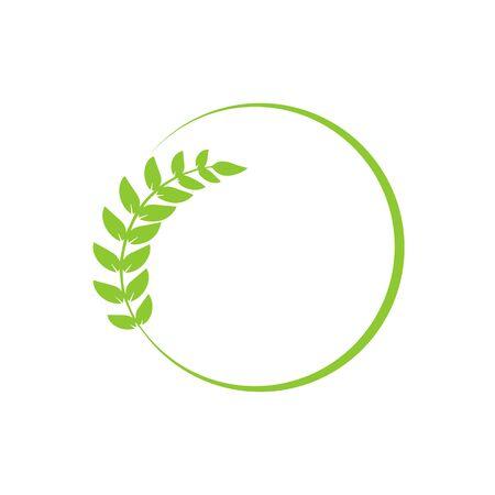 Leaf in the circle for brand design. Vector illustration Illustration