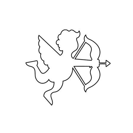 Cupid angle outline design. Vector illustration