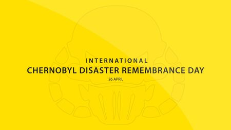International Chernobyl Disaster Remembrance Day. Vector illustration background.