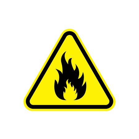 Fire danger sign. Vector illustration