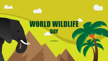 World Wildlife Day. Vector illustration background