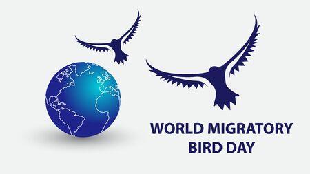 World Migratory Bird Day. Vector illustration