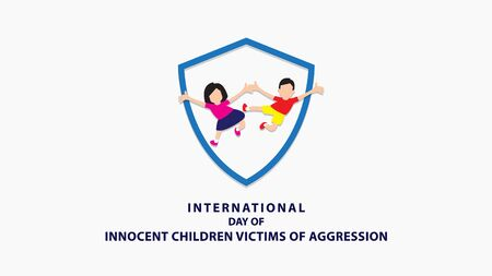 International Day of Innocent Children Victims of Aggression. Vector illustration