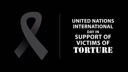 United Nations International Day in Support of Victims of Torture. Vector illustration Ilustración de vector