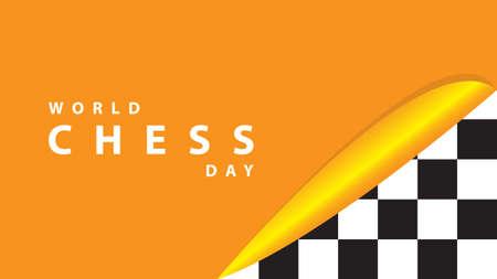 World Chess Day. Vector illustration. Stock Illustratie
