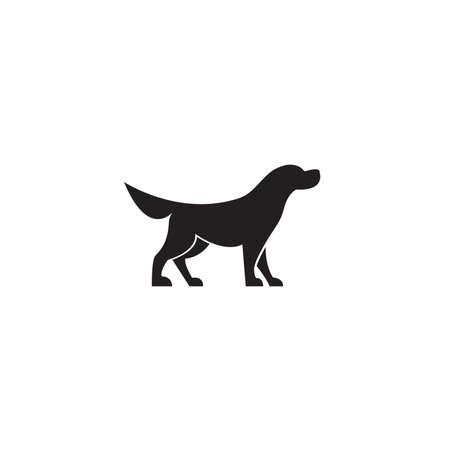 Simple dog symbol design. Vector illustration