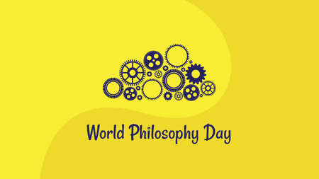 World Philosophy Day. Vector illustration