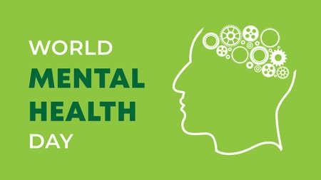 World Mental Health Day. Vector illustration
