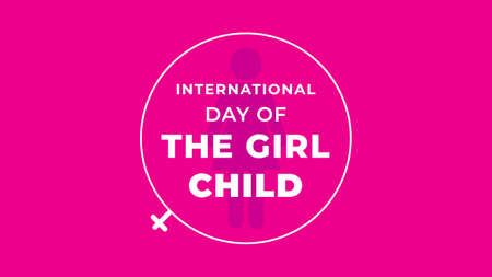 International Day of the Girl Child. Vector illustration