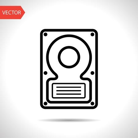 hard disk: icon of hard disk Illustration