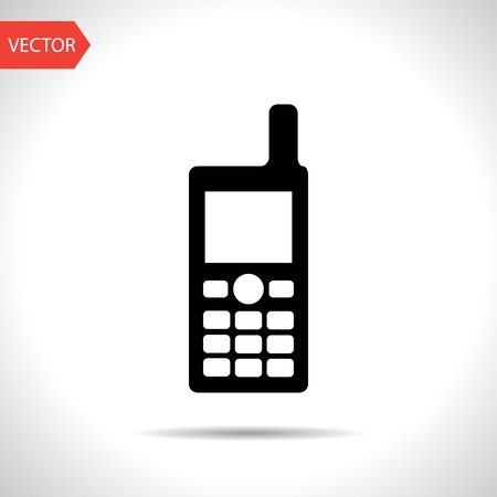mobil: icon of cell phone Illustration