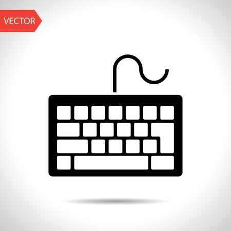 put the key: icon of keyboard