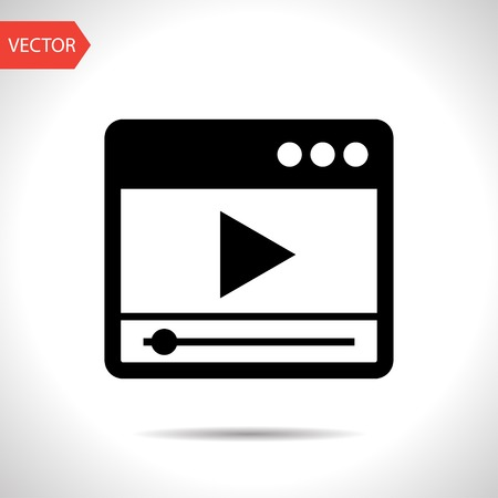 windows media video: icon of player window Illustration