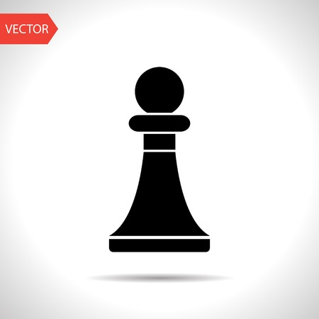 sport mats: icon of chess pawn
