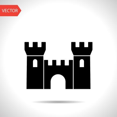 castle buildings: icon of castle Illustration