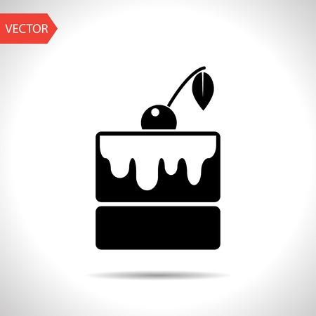 trozo de pastel: icono de la torta. Icono de la Alimentación