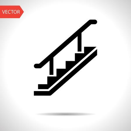 down the stairs: icono de escaleras Vectores