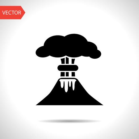 smoky mountains: volcano mountain erupting icon