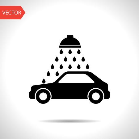 car wash: Vector icon of car wash