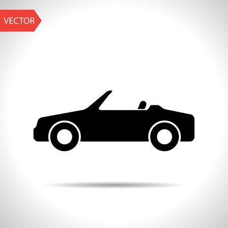 cabriolet: Vector icon of cabriolet Illustration