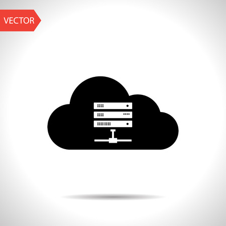 gigabyte: Icon of computer server, vector illustration