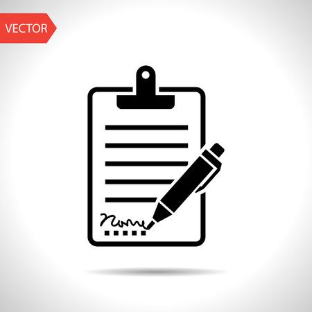boligrafos: Portapapeles con la muestra y el icono de lápiz Vectores