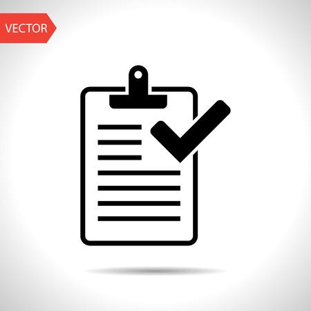 Clipboard with checklist icon