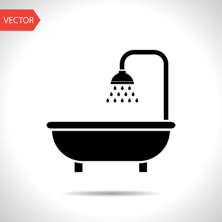 shower icon. Bathroom symbol