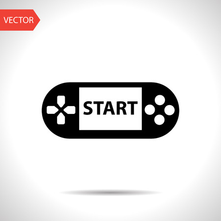 Handheld game console icon Illustration