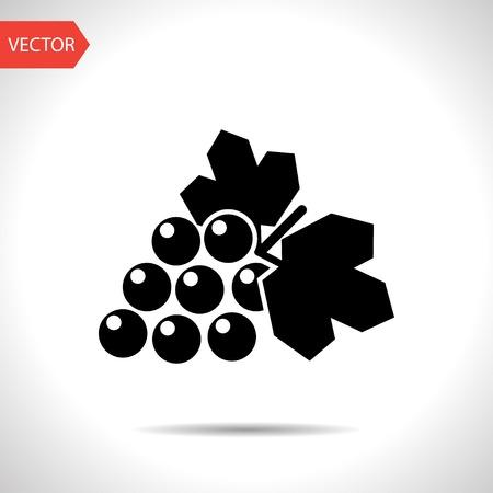 peasant household: Vector grape icon. Food icon.
