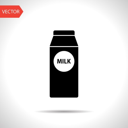 milk production: kitchen icon of milk Illustration