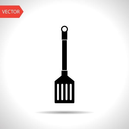 heatproof: kitchen icon of cooking scoop