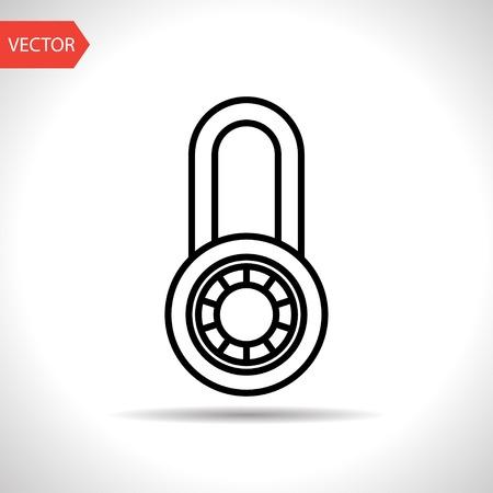 valuables: icon of code lock Illustration