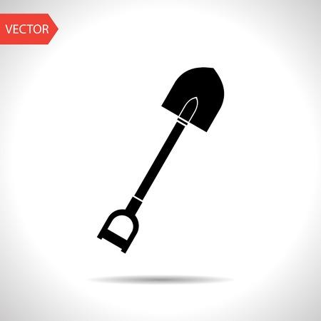 vector flat black icon of spade.