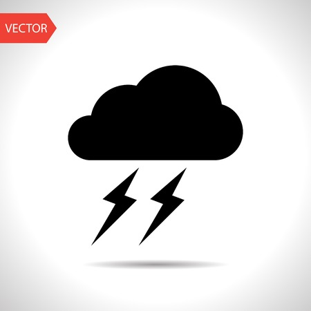 lightning storm: Weather icon of storm.