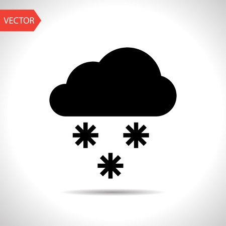 stormy clouds: Weather icon of snow.  Illustration